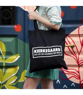 Tote bag existencialista Kierkegaard no es un mueble de Ikea
